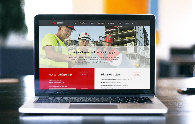 Webbplats Åhlin & Ekeroth Byggnads AB