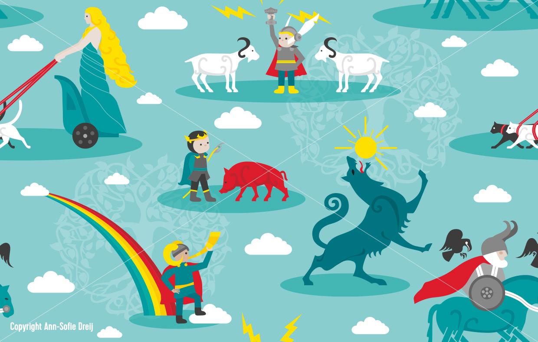 Norse Gods av Ann-Sofie Dreij