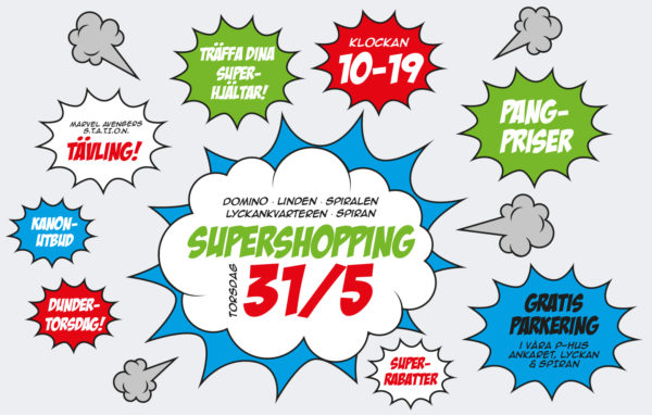 Supershopping i Galleria Domino